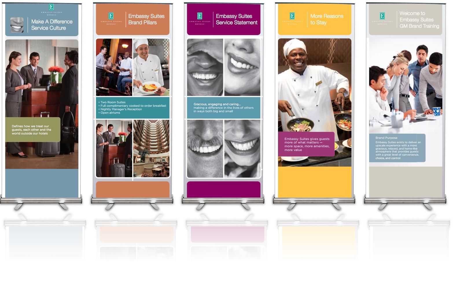pop up banners embassy suites impact production la. Black Bedroom Furniture Sets. Home Design Ideas